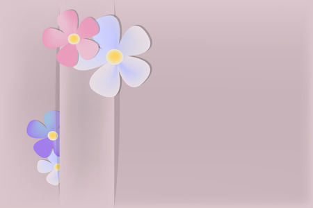 abstract flowers: Abstract background with some flowers Illustration