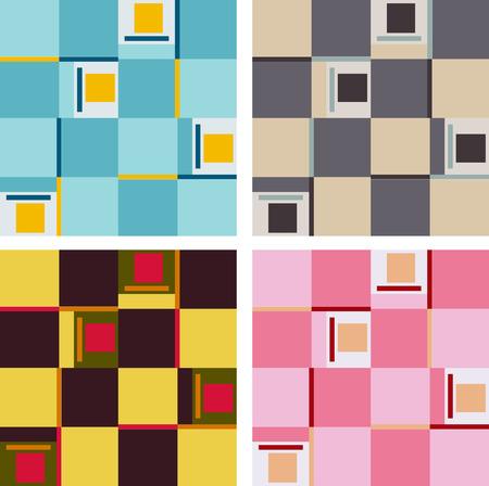 quadrant: Set of verious colored quadrant patterns