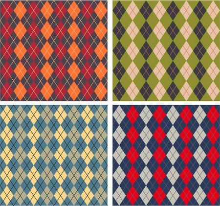 Set of textures Scottish designs Royalty