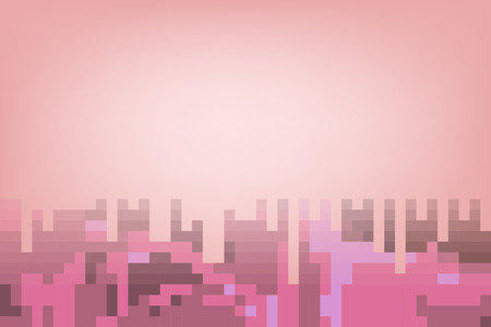pastel tone: Red abstract mosaic background in pastel tone