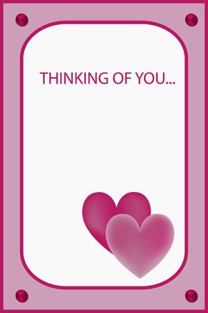 thinking of you: Im thinking of you rose greeting card with flower Illustration