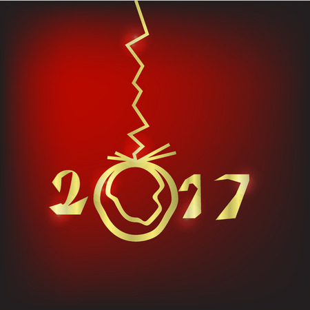 chinese script: 2017 Merry Christmas and Happy New Year Background