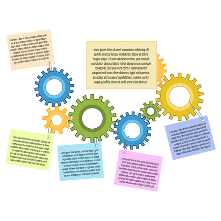 Attractive infographic design about chain of actions