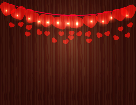 greeting card background: Valentines day Background with colorful Hearts. Greeting Card. Vector illustration