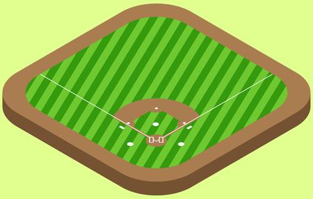 Isometric Baseball field in vector eps 10.