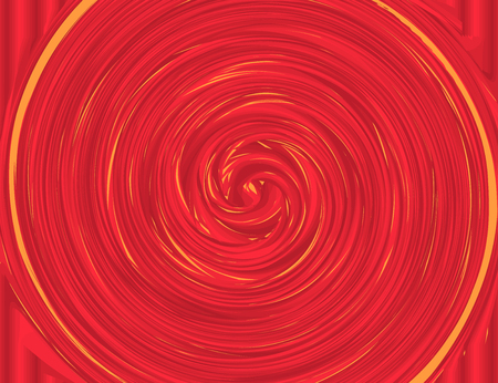 Red and Yellow Colors Whirlpool Background for Your Design. Vectos Illustration. Ilustração