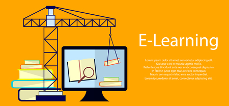 Education infographic. Flat vector illustration for e-learning and online education. Vector Illustration Illusztráció