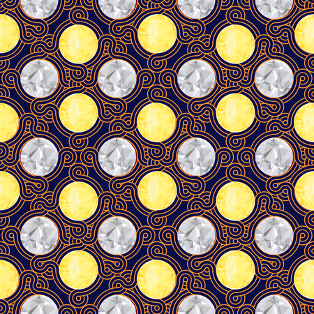 Vintage seamless colorful pattern for wallpaper background, mobile and web applications  in vector