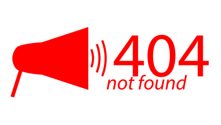 page not found: Page Not Found Error 404 Flat vector illustration
