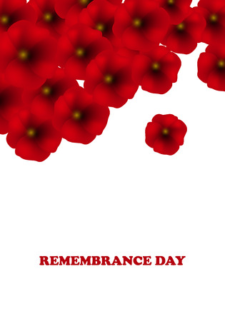 Remembrance Day, Anzac Day, Veterans Day Background with Poppies. Lest We Forget. . Vector Illustration