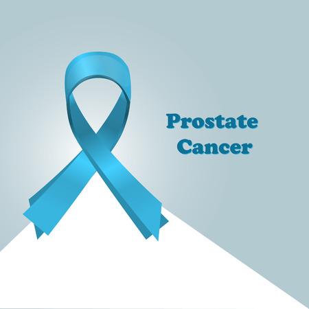 Prostate Cancer Blue Awareness Ribbon Background. World Prostate Cancer Day concept. In healthcare concept. Prostate cancer awareness month. Vector Illustration.