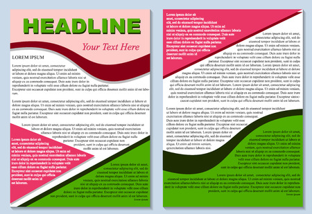 Brochure flyer design layout template size a4, isolated editable image in vector