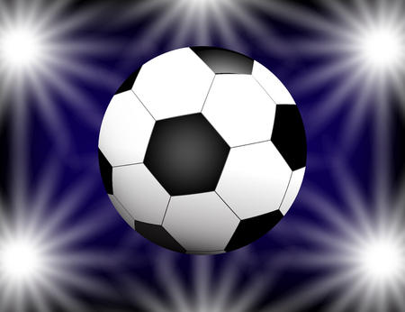 Football on bright Background