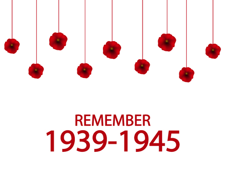 Day of Remembrance and Reconciliation vector illustration. World War II 1939-1945 poster. Illustration