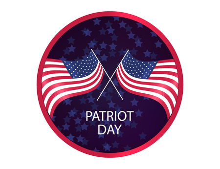 We Will Never Forget. 9/11 Patriot Day background, American Flag on sparkling background. Vector illustration for Patriot Day
