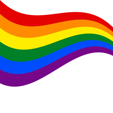 LGBT rainbow Flag. Celebrating gay people rights. Same-sex love. Pride. Vector Illustration Illustration