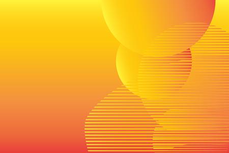 Minimalist geometric background. Trendy gradient, liquid shapes composition. Vector Illustration