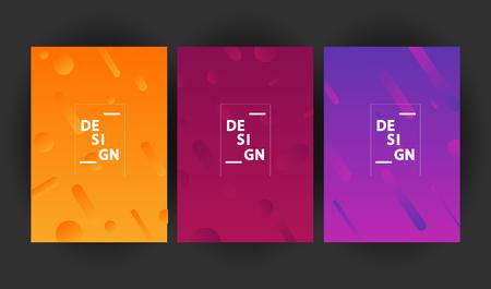 Set of Minimalist geometric backgrounds. Trendy gradient shapes composition. Vector Illustration