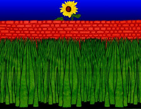dense: Illustration of plants