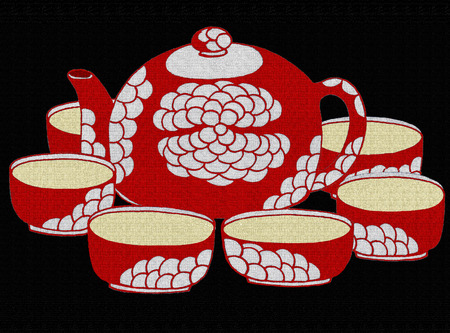 tea set: Illustration of a tea set