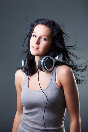 girl enjoys music Stock Photo - 8851854