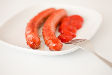 Grilled Sausages for Breakfast  photo
