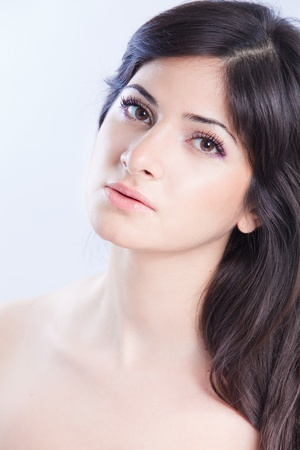 Pretty woman with long  brown hair Stock Photo - 9093659