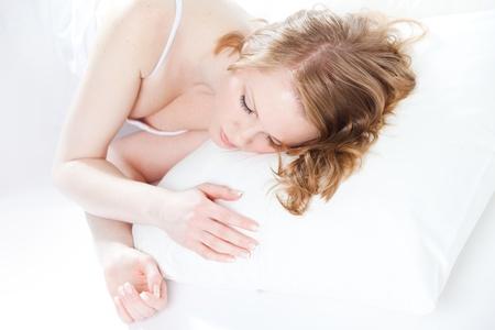 good health: beautiful girl sleeps