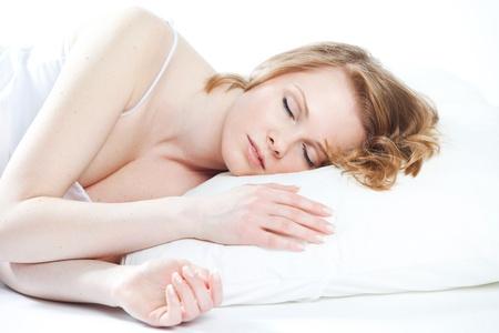 beautiful girl sleeps  photo