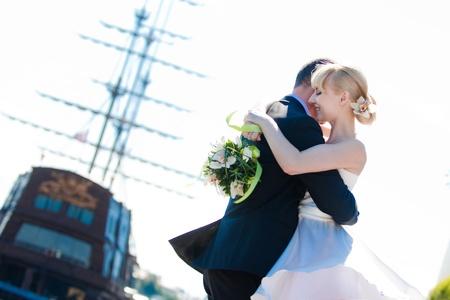 새로 결혼 커플 스톡 콘텐츠