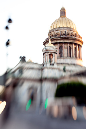 isaac: St. Isaac Cathedral in Saint-Petersburg, an unusual effect movement Stock Photo