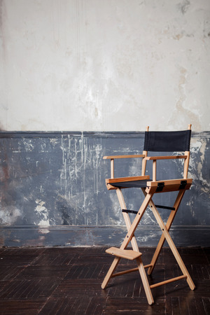bar chair at the wall, vintage background