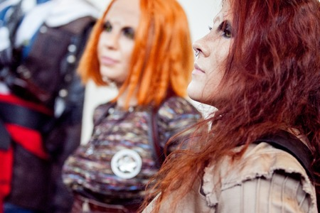 defiance: Saint Petersburg, RUSSIA - MAY 17, 2015: group of cosplayers sci-Fi series Defiance on 17 MAY 2015