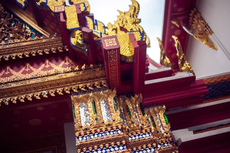 Temple of Reclining Buddha, Wat Pho, Bangkok, Thailand Stock Photo