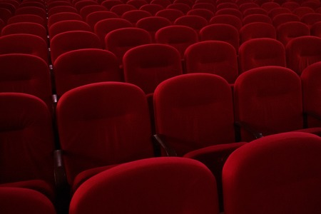 Empty cinema hall. The crisis in film distribution Stock Photo