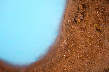 Iceland, valley of geysers, springs of hot geothermal water Stock Photo
