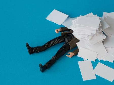 job deadline: Concept, people swamped with paperwork
