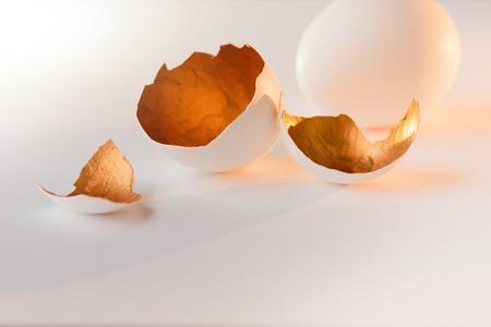 A symbol of new life, eggs shells