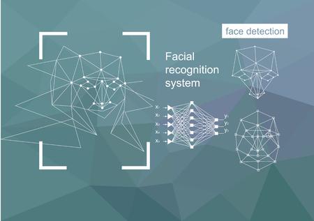 Technologies, approaches to face recognition, vector concept. Neural network algorithm.