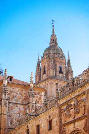 View of the dome of the great Catholic Cathedral in Salamanca, Spain