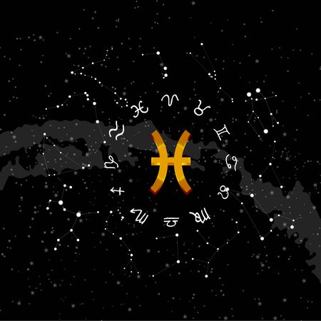 Constellation Pisces of the zodiac.