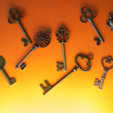 Many different old keys from different locks