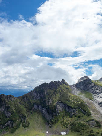 Epic mountain landscape. Beautiful natural terrain in the mountains, peaks and valleys, Beauty of wild nature, landscape