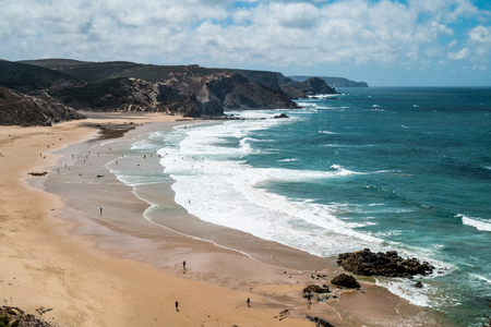 A hidden beach in Portugal surrounded by cliffs