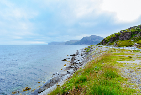 View of the severe nature of northern Norway in the summer