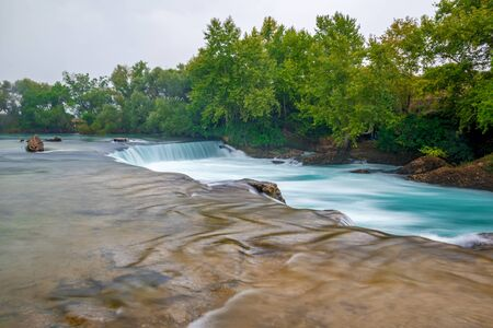 View of falls of Manavgat in Turkey removed beautifully with long exposure with effect of milk river