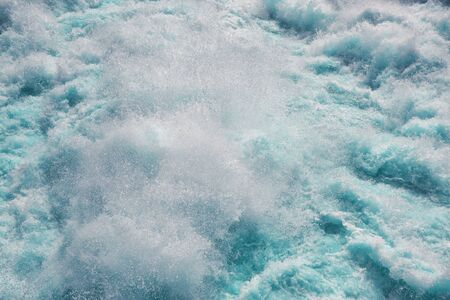 Background from the raging sea water with vials of foam Stockfoto
