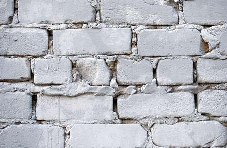 Bright white bricks wall flat background texture pattern