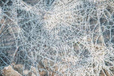cracks on glass texture broken glass transparent Stockfoto
