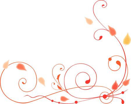 afbeelding van de decoratieve ranken met de herfstbladeren. Stock Illustratie